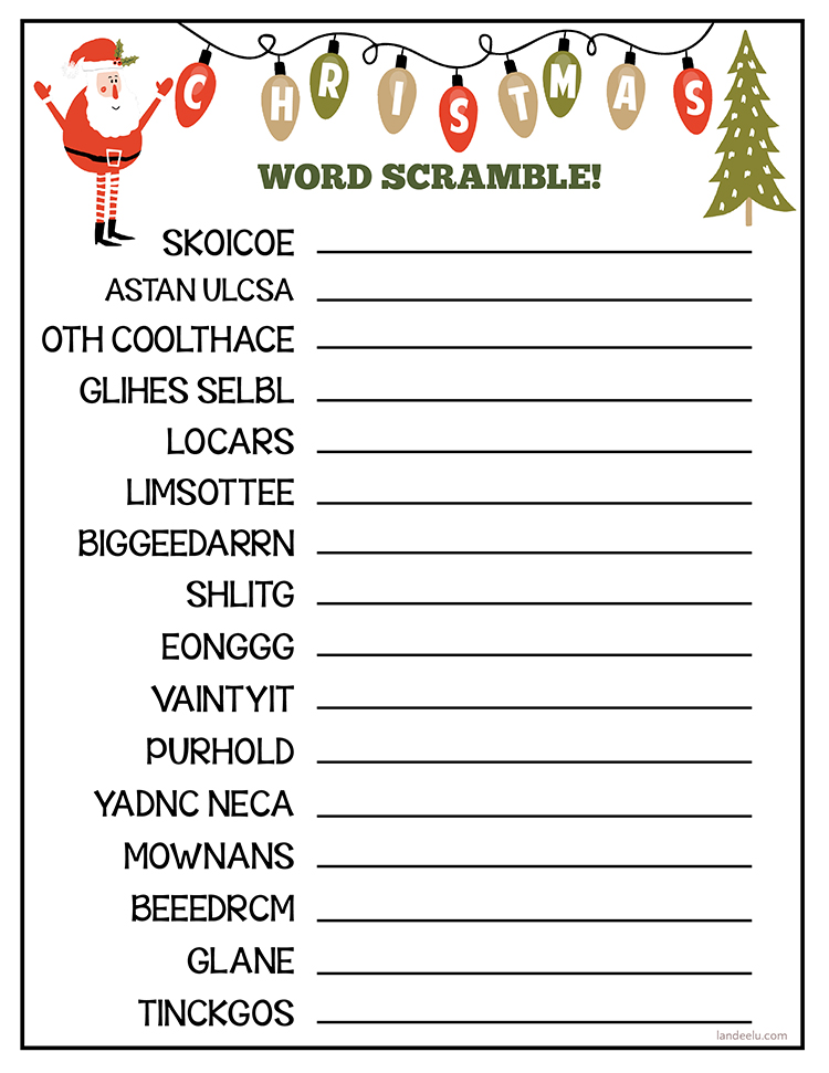 Easily download and print this darling Christmas worksheet for some Christmas fun!