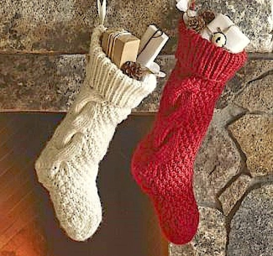 Turn an old sweater sleeve into a Christmas Stocking!  DIY Sweater Christmas Stocking Upcycle Tutorial | Hometalk