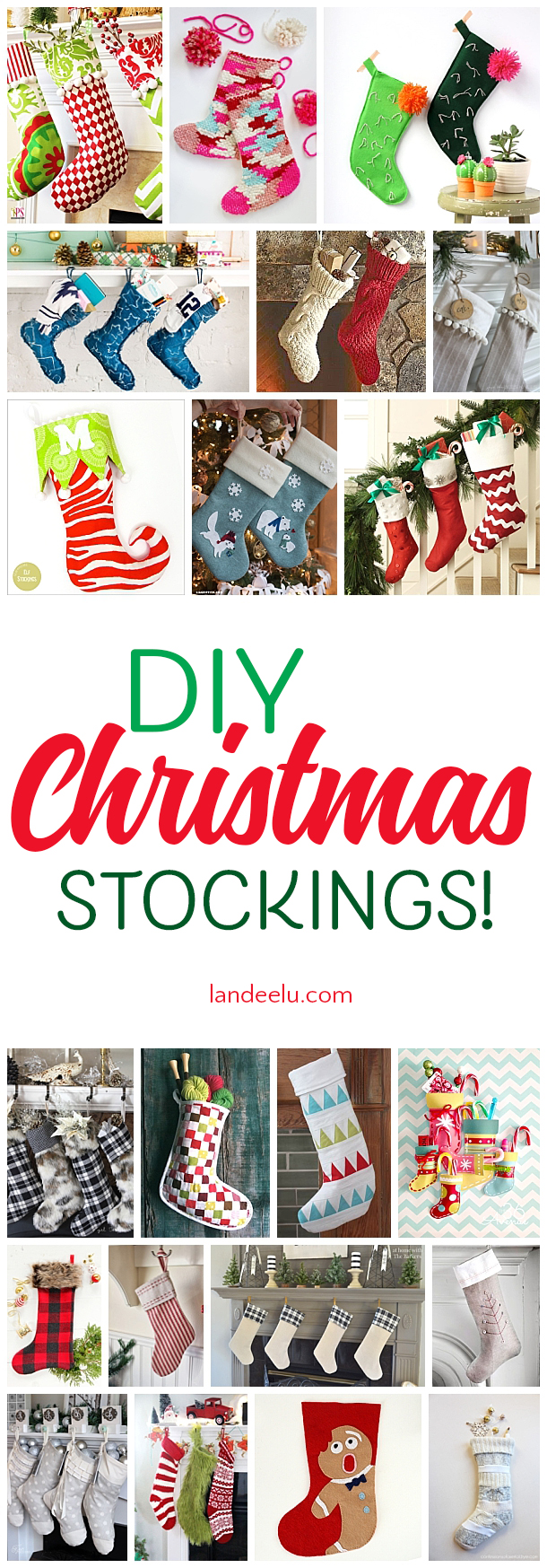 Darling Christmas stockings for you to make yourself... that makes them extra special!