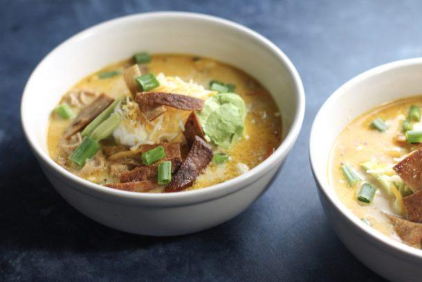 Instant Pot Creamy Chicken Tortilla Soup (Low Carb) | Mince Republic