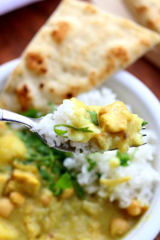 Instant Pot Yellow Chicken Curry and Jasmine Rice | 365 Days of Slow Cooking