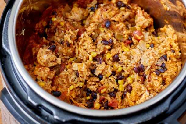 Recipe- Instant Pot Weeknight Chicken and Rice Burrito Bowls   Kitchn