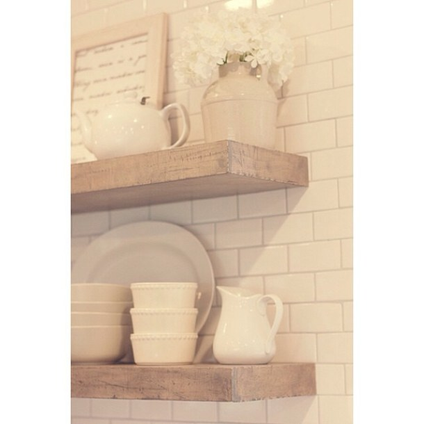 DIY Rustic Floating Shelves | Jenna Sue Design
