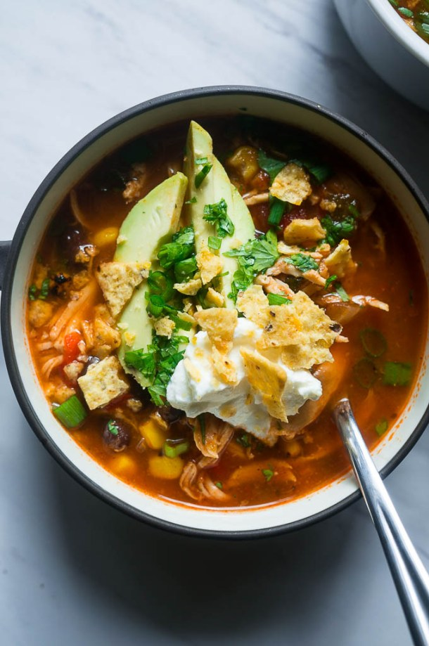 Pressure Cooker Chicken Tortilla Soup | Kitschen Cat