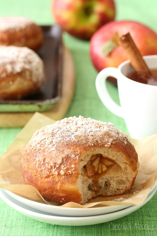 Apple Pie Filled Doughnuts | Chocolate Moosey