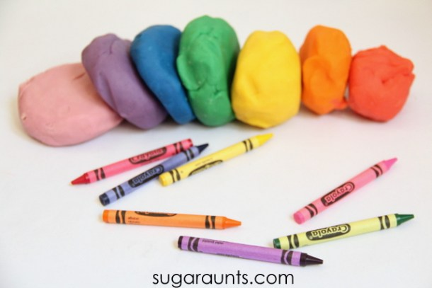 Crayon Playdough | The OT Tool Box