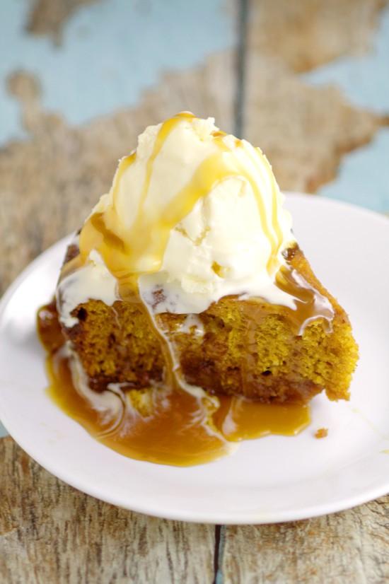 Crockpot Pumpkin Caramel Cake | The Gracious Wife