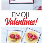All the HEART EYES for these cute Emoji Printable Valentines! #valentinesday #valentineidea #easyvalentine #printablevalentine #freevalentine