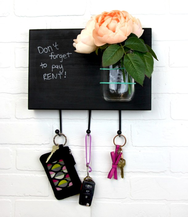 DIY Memo Board Key Rack | A Little Craft in Your Day