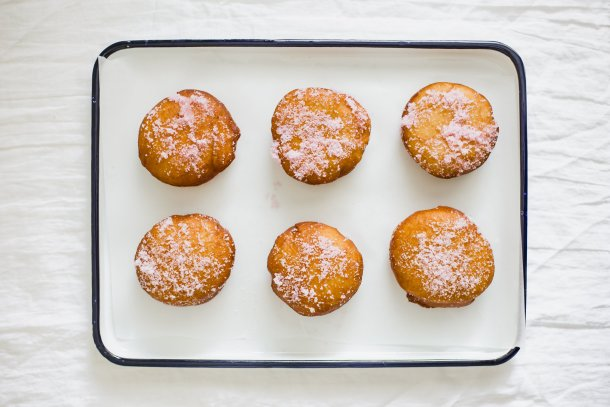 Pomegranate Cream Doughnuts | Madeline Marie Hall
