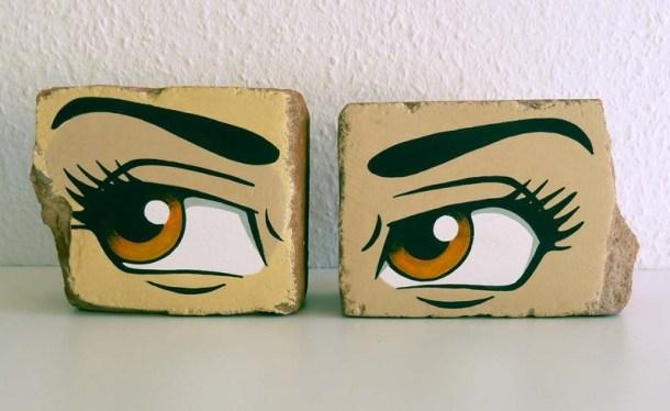 Brick Anime Eye Bookends | Da Wanda