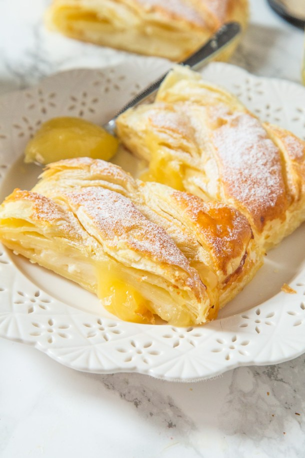 Cream Cheese Lemon Puff Pastry Braid | Annie's Noms