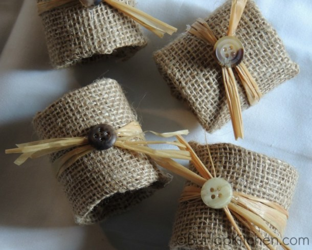 DIY Burlap Napkin Rings | Burlap Kitchen