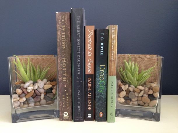 DIY Glass Vase Bookends | The Spruce