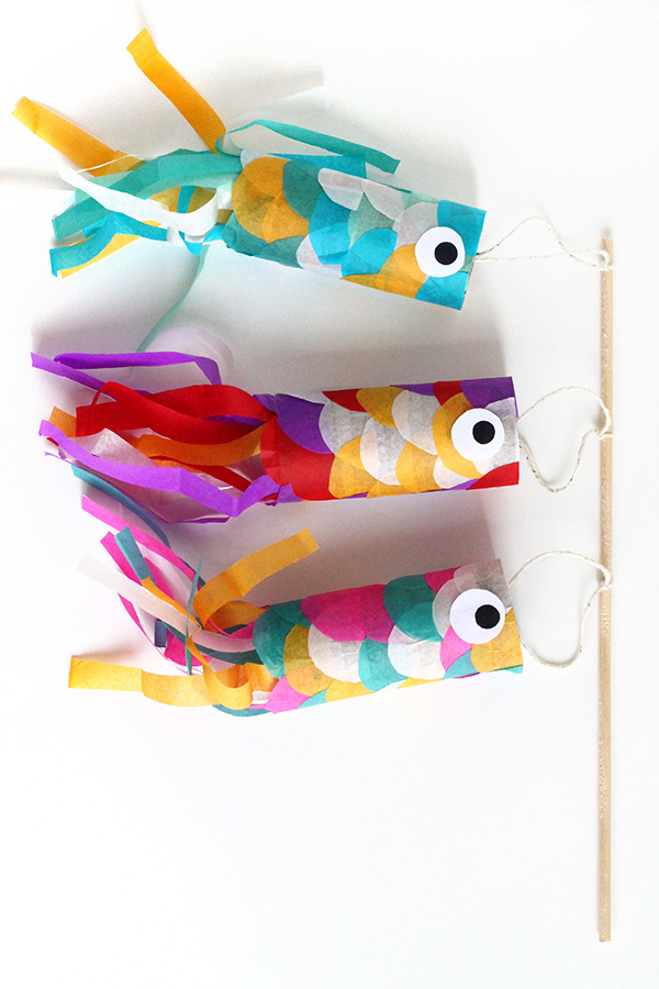 DIY Mini Koinobori - Japanese Flying Carp | Squirrelly Minds