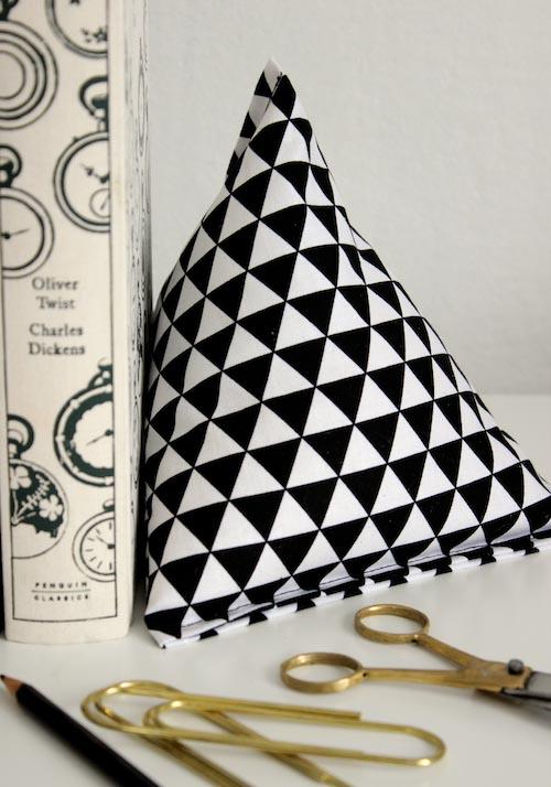 Fabric Pyramid Bookends | Design Sponge
