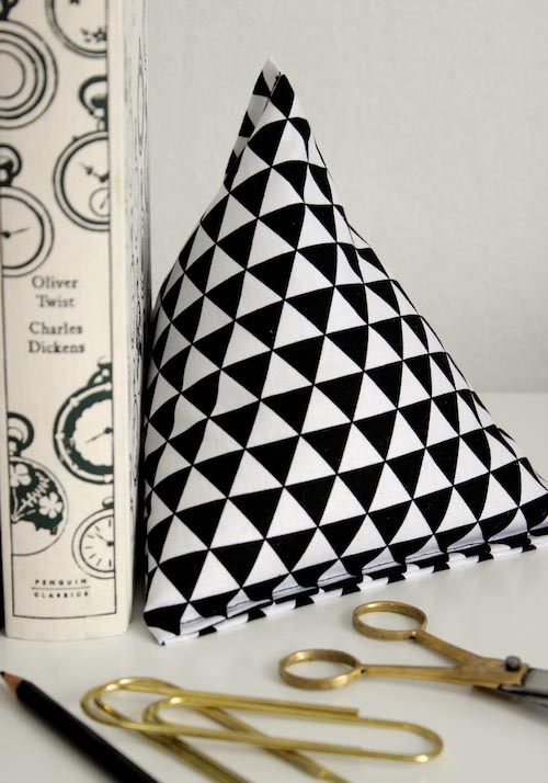 Fabric Pyramid Bookends | Design Sponge