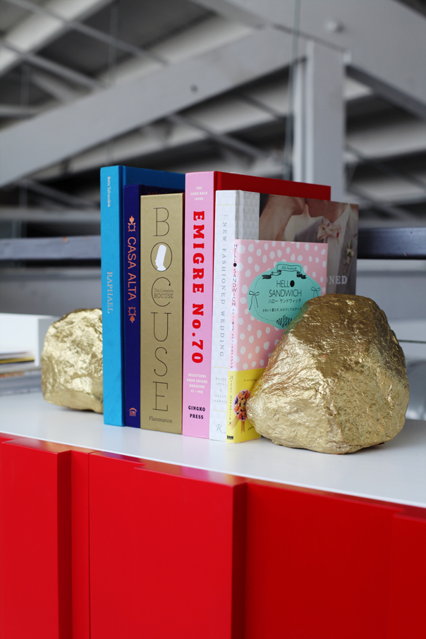 Gold Painted Rock Bookends | Design Love Fest