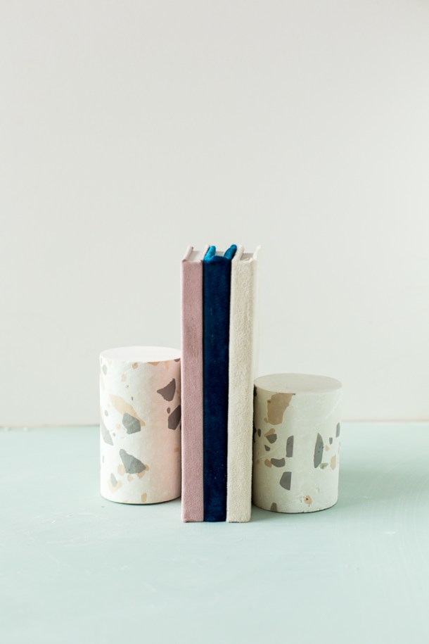 How to Terrazzo Print and DIY Terrazzo Bookends | Fall For Diy