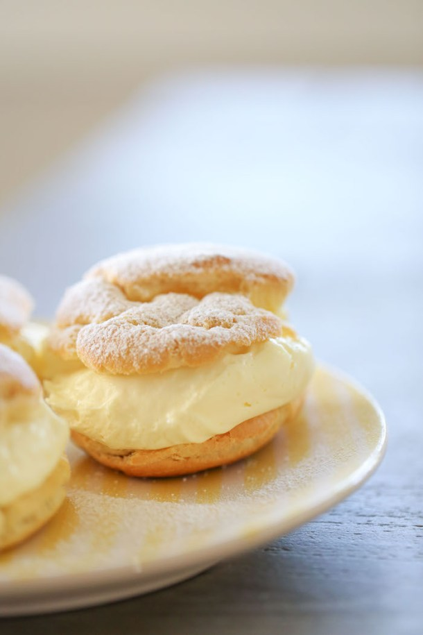 Lemon Cream Puffs | Lauren Latest