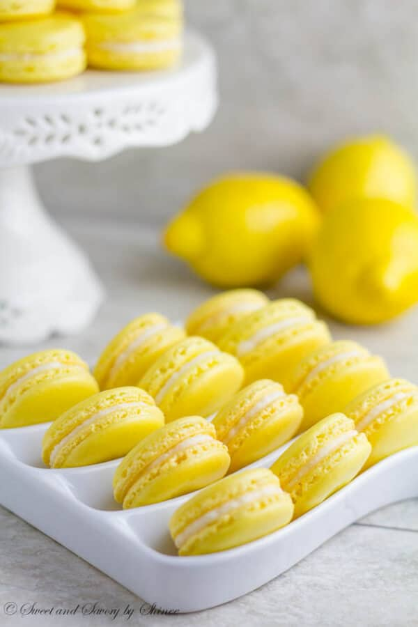 Lemon French Macarons | Sweet and Savory by Shinee