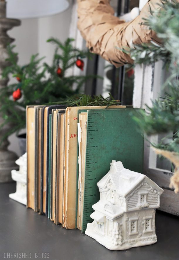 Snowy Village Book Ends | Cherished Bliss