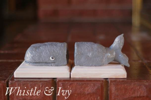 Whale Bookends (Anthro Knock-off) | Whistle and Ivy
