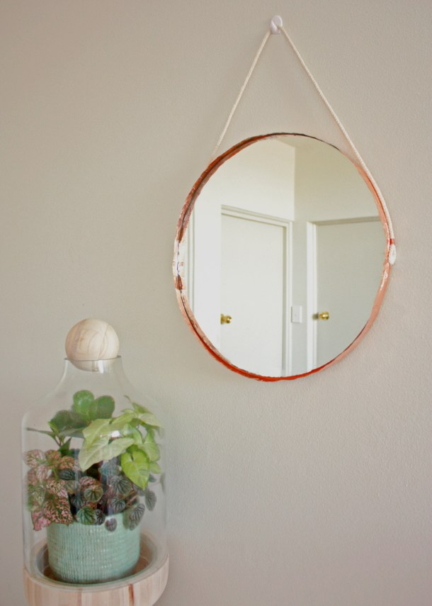 DIY Copper Edged Mirror   The Makers Society