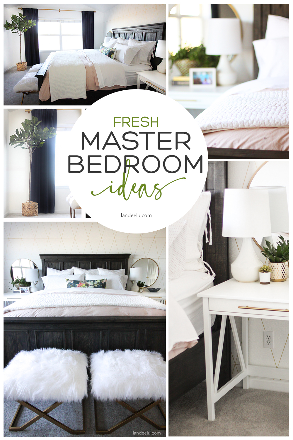 Love this transformation! Lots of awesome master bedroom ideas.  #masterbedroom #bedroom #bedroomideas #bedroomtransformation #bedroomaccessories
