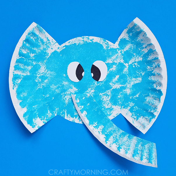 Paper Plate Elephants | Crafty Morning