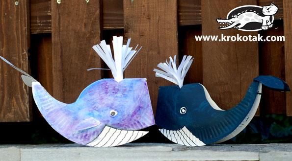 Paper Plate Whales | Krokotak