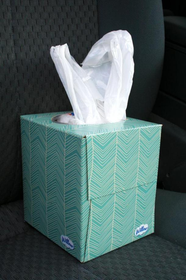 Tissue Box Grocery Bag Dispenser | hgtv