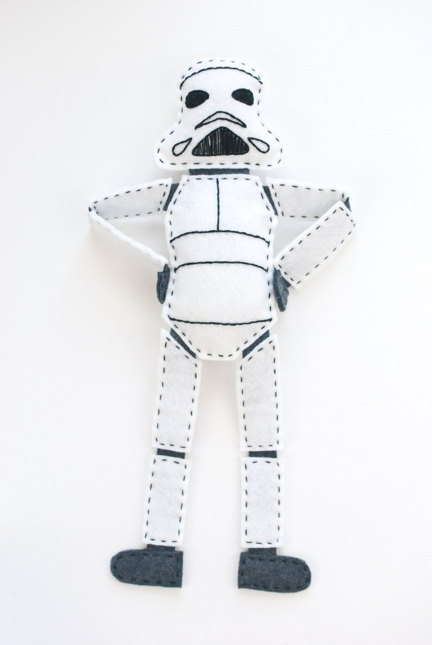 DIY Felt Stuffed Clone Trooper | Wild Olive
