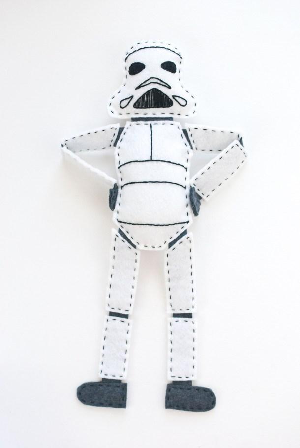 DIY Felt Stuffed Clone Trooper | Wild Olive