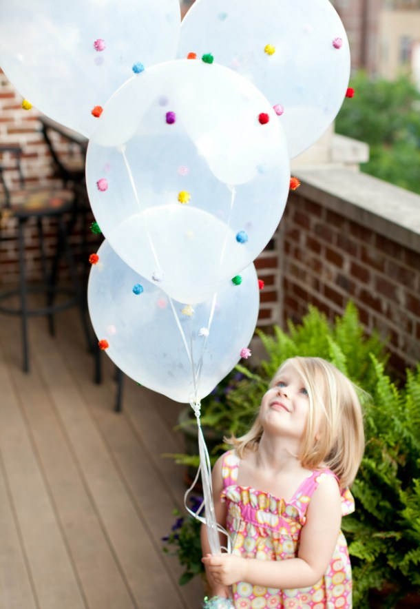 DIY Pom Pom Balloons | Design Improvised