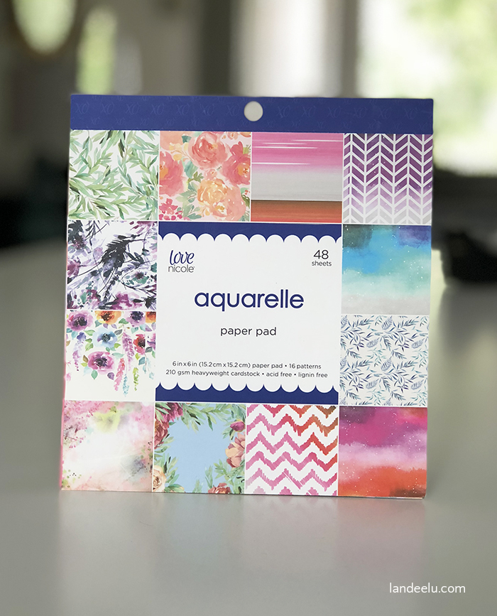 AC Moore carries amazing decorative papers in their Love Nicole paper crafting line!