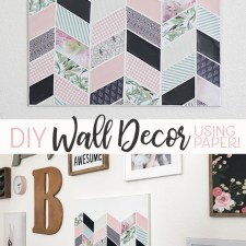 Darling DIY Wall Decor for Girl's Bedroom!