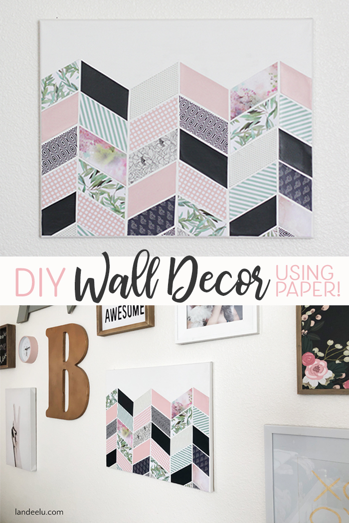 Easy DIY Wall Decor Made Using Decorative Papers Mod Podge And A Blank Canvas
