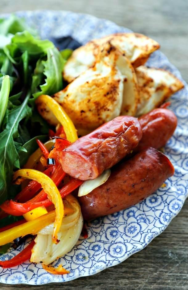 Kielbasa and Pierogies Sheet Pan Meal | Foodie with Family