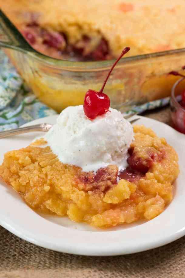 Pineapple Upside Down Dump Cake | Crazy for Crust