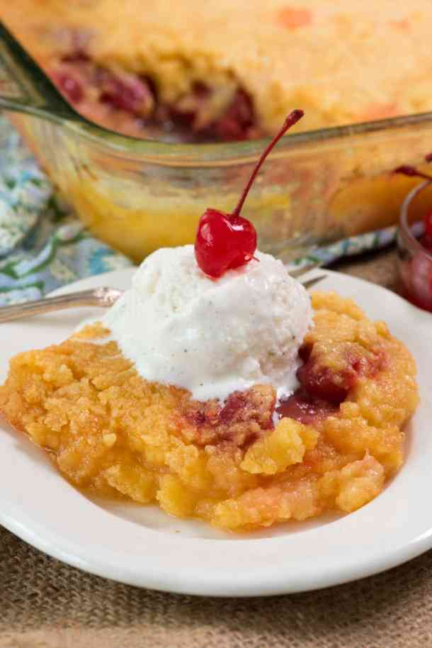 Pineapple Upside Down Dump Cake | Crazy for Crust