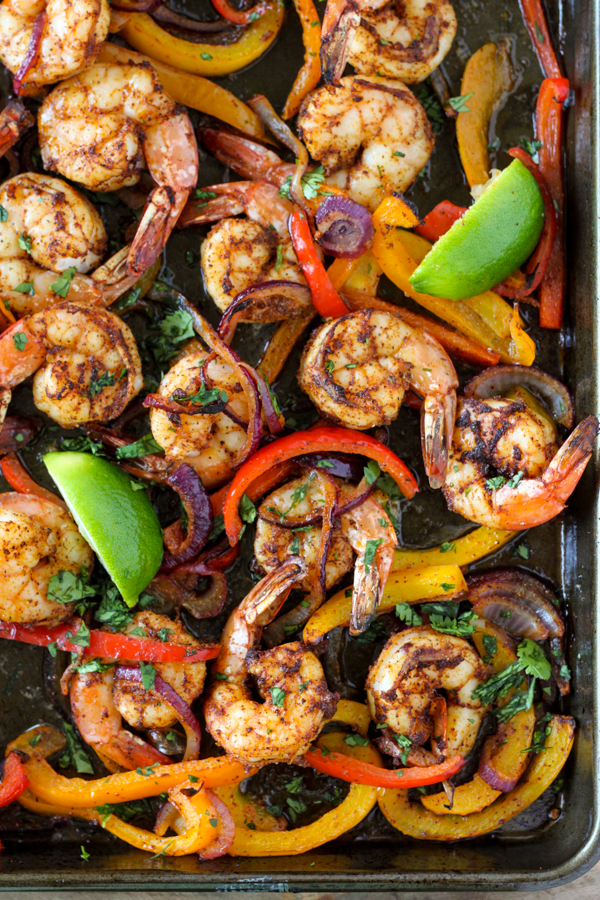 Sheet Pan Shrimp Fajitas | Number-2-Pencil