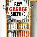 Easy Garage Shelving for Spray Paint!