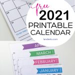 2021 Free Printable Calendar for all your organizing needs! #2021calendar #freecalendar #freeprintablecalendar #organizingprintable