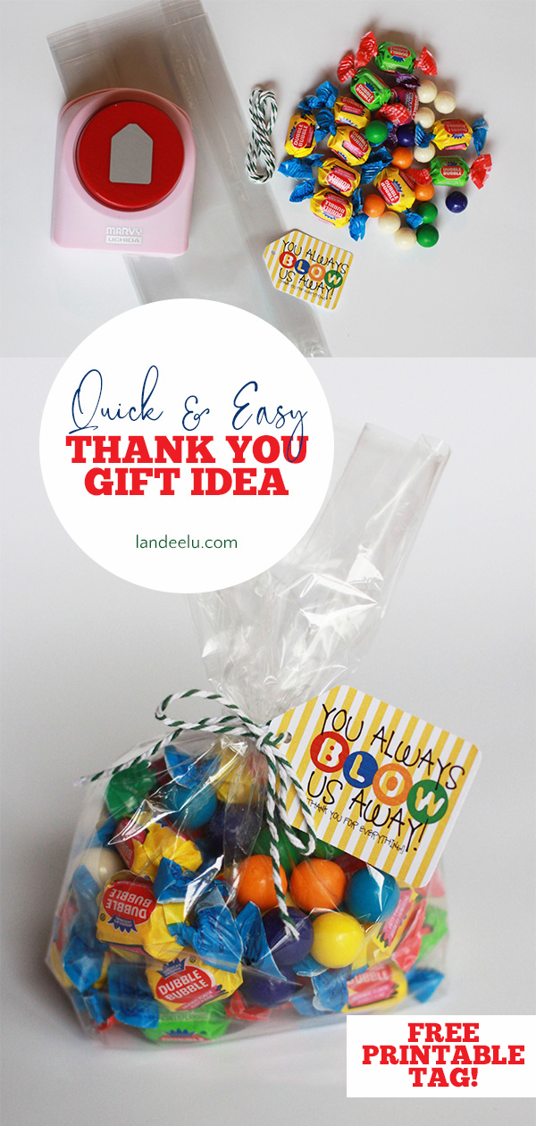 Quick and Easy Thank You gift idea to say thank you in a little extra special way! #thankyougift #thankyou #smallgift idea #teacherappreciation