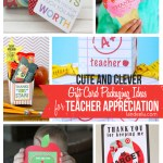 Over 20 amazing Printable Teacher Appreciation gift ideas to give a gift card! So easy and cute! #teacherappreciation #teachergifts #teachergiftideas #printableteachergifts