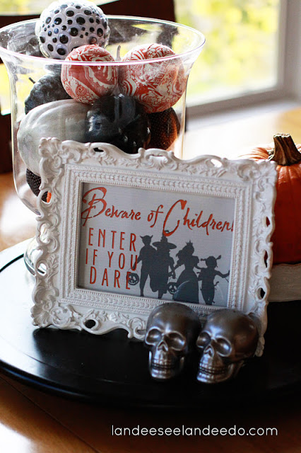 """Beware of Children!  Enter if you dare""  Funny Halloween Free Printable 