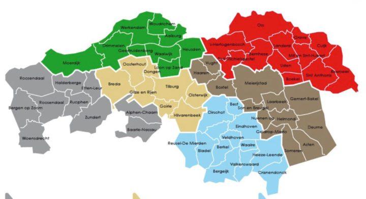 regio-indeling BOA's SSiB in Niooird-Brabant