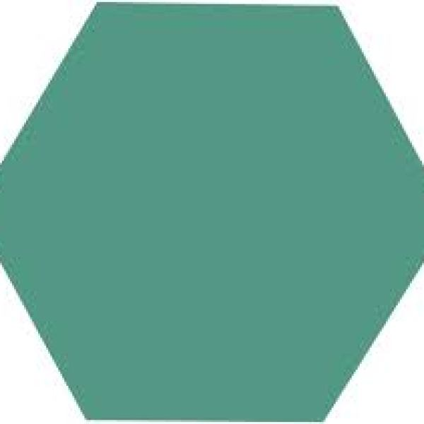 Hexagon Green 17,5x15,5cm