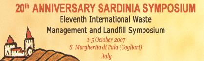 Sardinia Waste Conferenece 2007